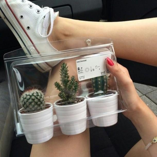 Home Accessory Cactus Box White Home Decor Home Decor Cute Plants Home Decor Ikea