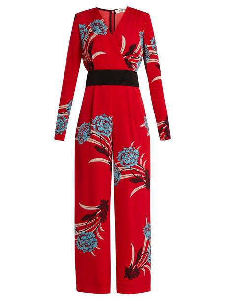 DIANE VON FURSTENBERG Farren floral-print wide-leg jumpsuit