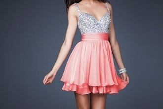 sequins pink dress dress pref drees sparkle sparkly dress prom dress pink silver dress prom beautiful homecoming dress sequin dress glittery dress short dress glitzer kleid style cute dress short
