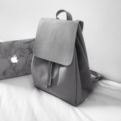 bag,grey,backpack,leather,zara,purse,tumblr,apple,nastygal,all grey everything
