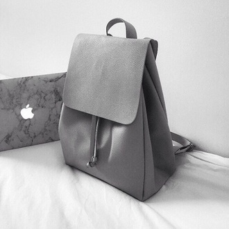 bag grey backpack leather zara purse tumblr apple nastygal all grey everything