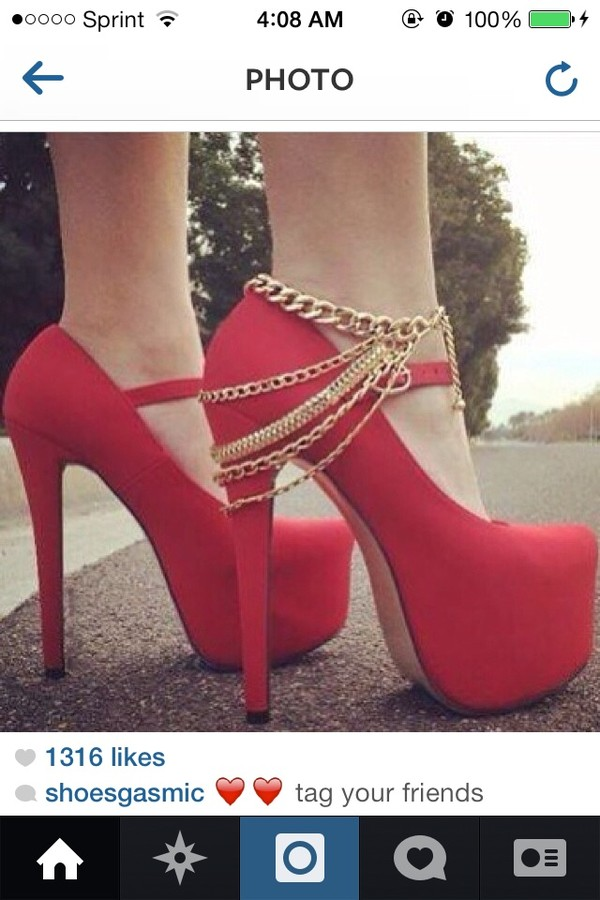shoes red high heels mary janes jewels