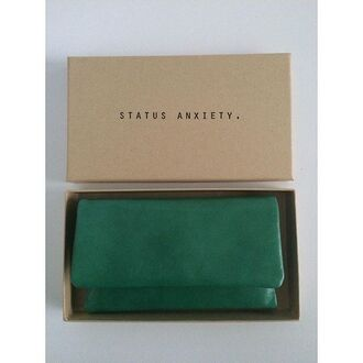 bag status anxiety peppermayo leather wallet leather purse green leather green wallet purse
