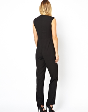 Arrogant Cat | Arrogant Cat London Tuxedo Jumpsuit with V Neck at ASOS
