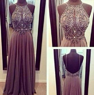 gems evening dress gray pinterest halter top prom dress prom