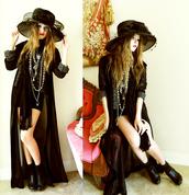 maxi dress,red dress,dress,prom dress,black mini dress,hat,floppy hat,black hat,coat