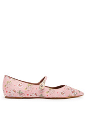 jacquard,flats,floral,pink,shoes