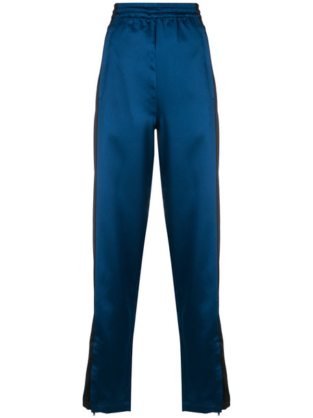 Koche - panelled track pants - women - Polyester - 36, Blue, Polyester