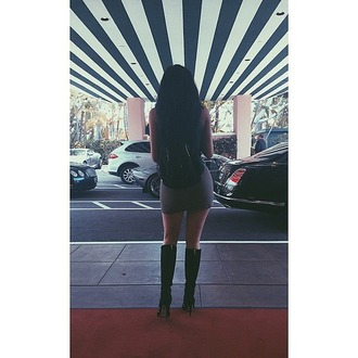 dress kylie jenner instagram boots backpack bag