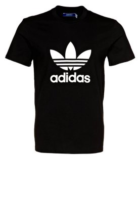 adidas Originals TREFOIL TEE - T-Shirt basic - black/white - Zalando.de