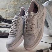 shoes,bronze,reebok classic,grey