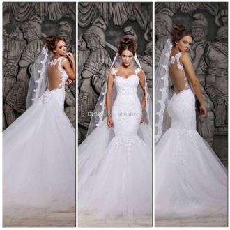 dress wedding dress mermaid wedding dresses