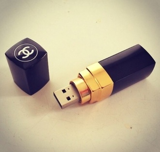 lipstick chanel inspired usb flash drive technology computer accessory etsy home accessory