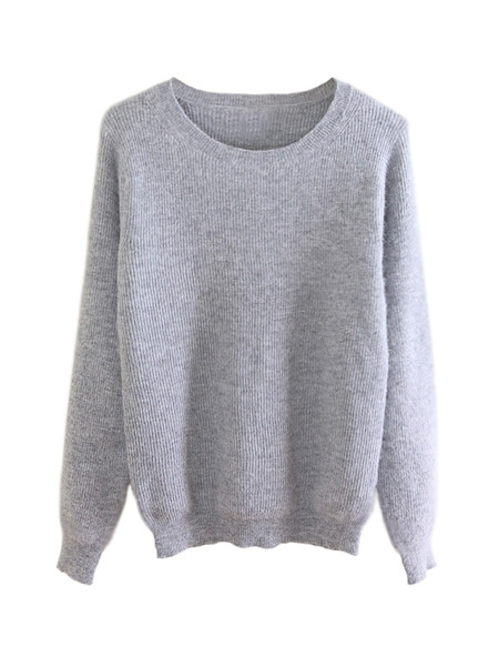 Angora Jumper In Gray Color | Choies