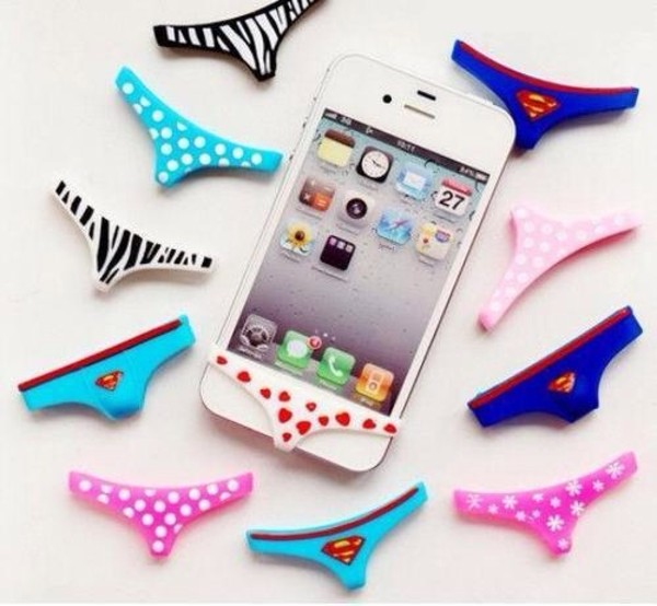 jewels iphone phone cover cute girly case for iphone 4/4s/5 underwear