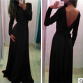 Online shop brand new women casual chiffon long sleeve lace maxi dress evening party sexy maxi dresses gown vestidos de fiesta 2014