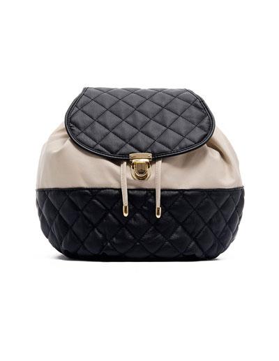 Producto: Bolso Saco Acolchado Bicolor Mediano