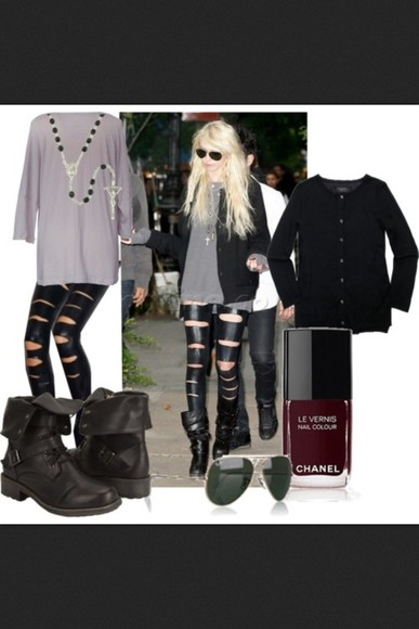 taylor momsen shoes the pretty reckless, taylor momsen, black outfit