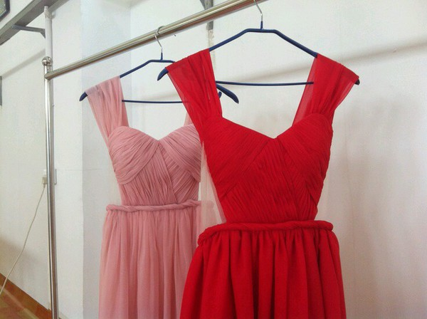 wedding dress prom dress draped bridesmaid red dress pink dress