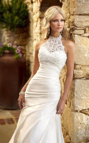 Dress Halter Neck Wedding Dress Wedding Dress Sweetheart