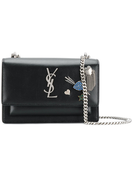 Saint Laurent women embellished bag leather black