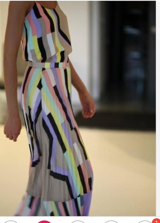 maxi dress stripes colourful dress colourful dress long dress summer dress blue and green tie dye