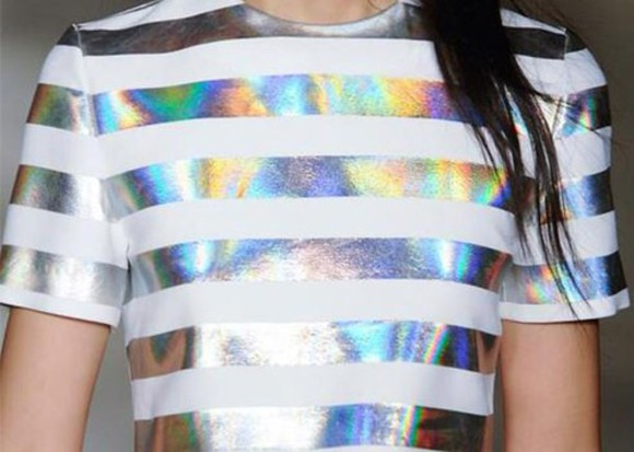 stripes tshirt dress t shirt. hoodie holographic