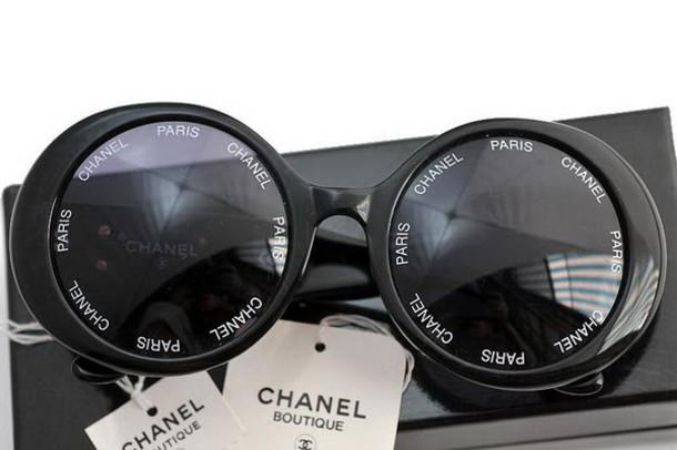 7be09f76e8 Source · sunglasses kawaii chanel black boutique paris Wheretoget Shoppable  tips Source · Chanel Circle Sunglasses Rectangle Paris Round Replica  PixelJam