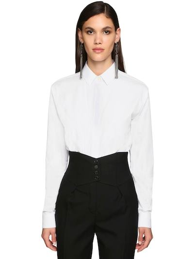 SAINT LAURENT Classic Cotton Poplin Shirt White