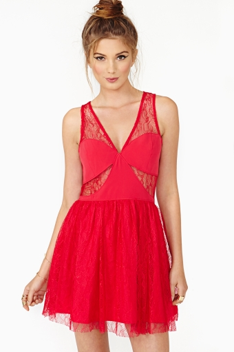 Adore me lace dress in  what's new at nasty gal