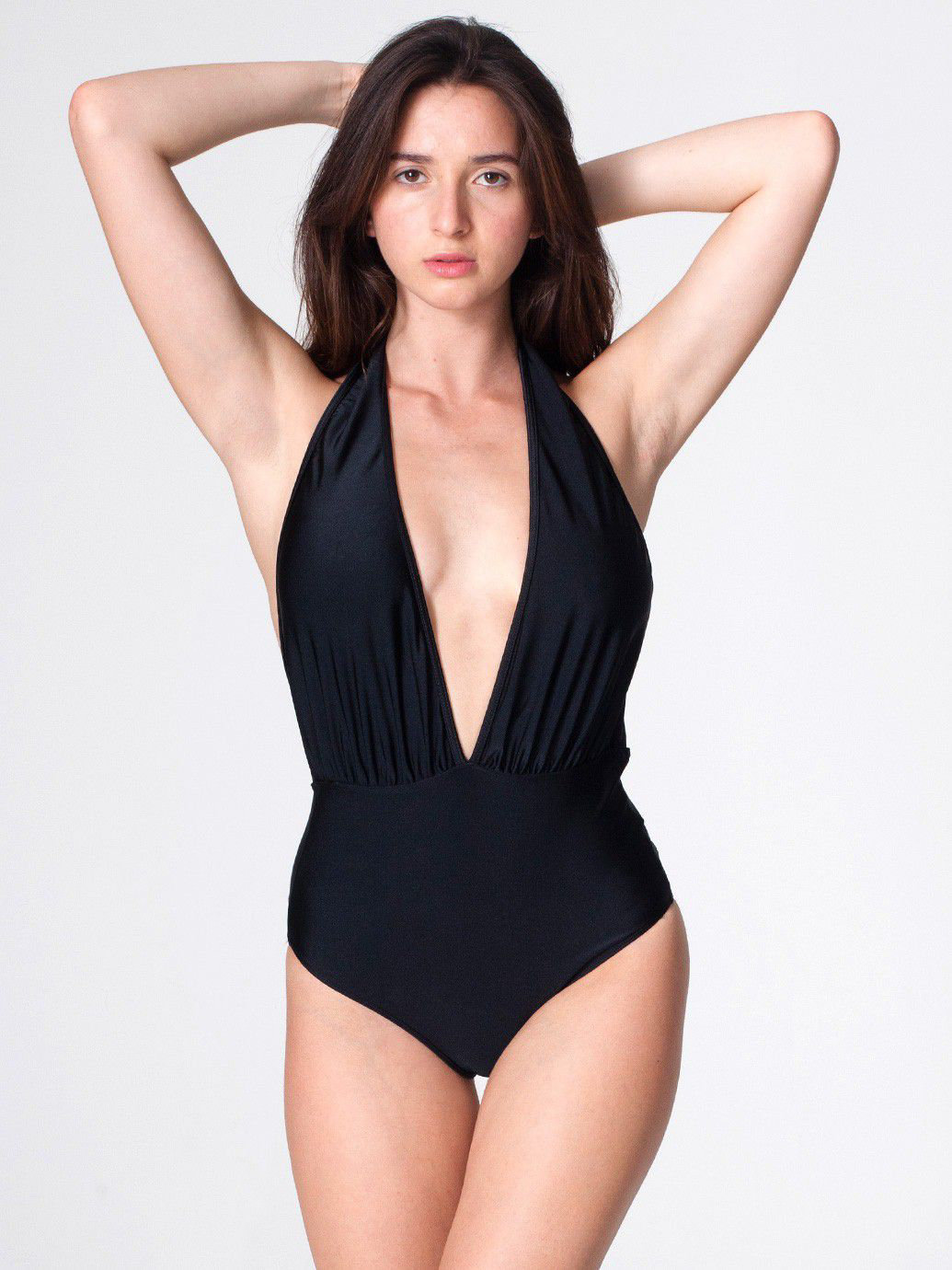 The Nylon Tricot Halter One-Piece | American Apparel
