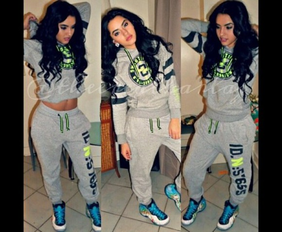 sweater dope pants sweatsuit sweatshirt neon trill sweatpants baggy