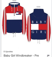 sweater,jacket,baby girl,windbreaker,coat,tommy hilfiger,blue,white,red,top,tommy hilfiger crop top,baby,cropped jacket