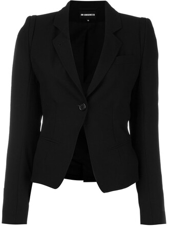 blazer cropped black jacket