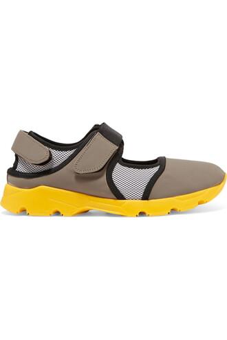 mesh sneakers neoprene yellow shoes