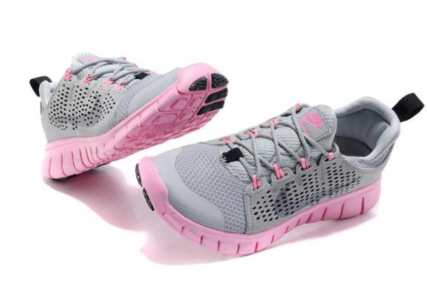 shoes nike nike shoes nike free run baby pink grey