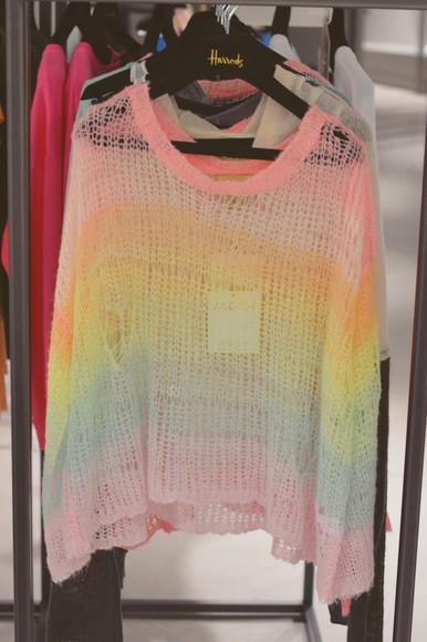 cute jumper romper girly rainbow
