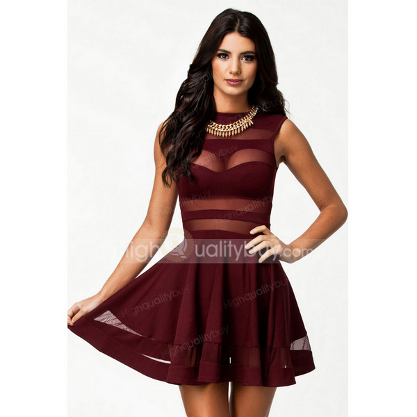 Attractive Women Sexy Sleeveless A-line Party Club Dress_$41.56