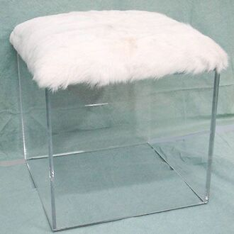home accessory chair see through fur clear home decor furniture home furniture