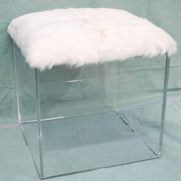 home accessory chair see through fur clear home decor furniture home furniture