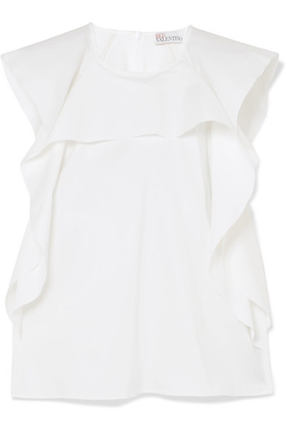 REDValentino top white cotton