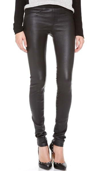 Helmut Lang Stretch Leather Pants | SHOPBOP