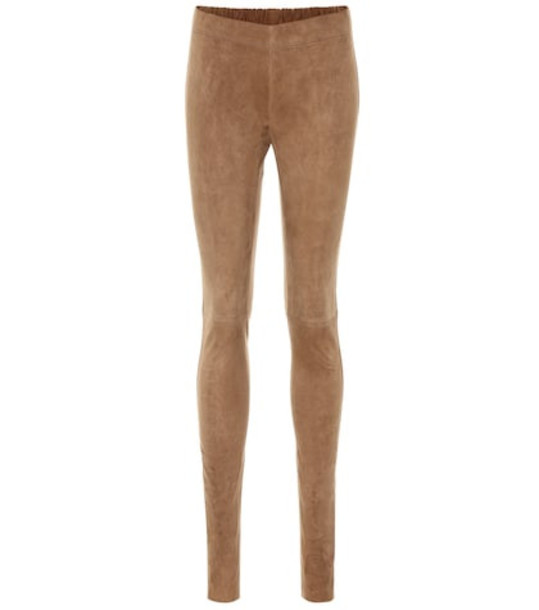 Joseph Suede leggings in brown