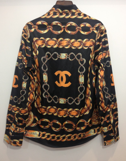 Gold cc chain blouse (limited edition) / big momma thang
