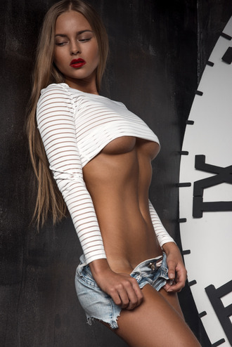 top white crop tops striped top