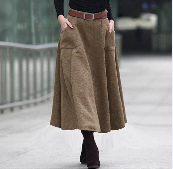 Women Wool skirts dress high fashion dress by Buzaitingle