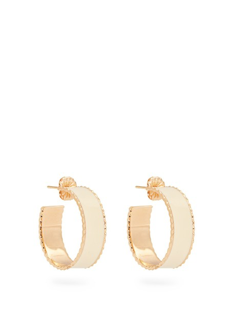 earrings gold yellow white jewels