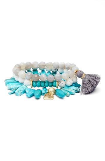 Love's Affect Set of 3 Stretch Bracelets | Nordstrom