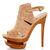 Jessica Simpson Cat Camel Suede Slingback Platform Heels - $109.00