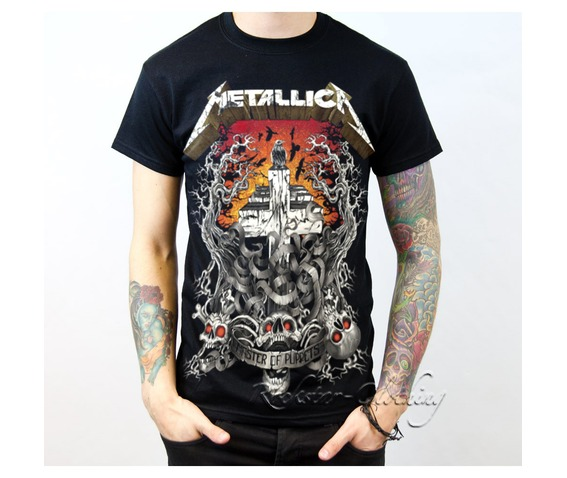 93678fa0001 Metallica Master Puppets Heavy Metal Band Men Black Cotton T Shirt